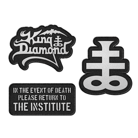 √The Institute Essentials von King Diamond - 3er Aufnäher Set jetzt im Bravado Shop