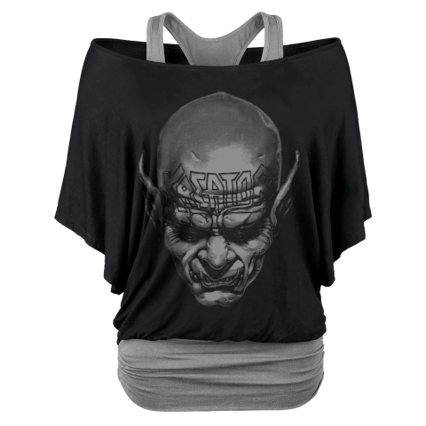 √Big Skull von Kreator - Girlie Double Layer Shirt jetzt im Bravado Shop