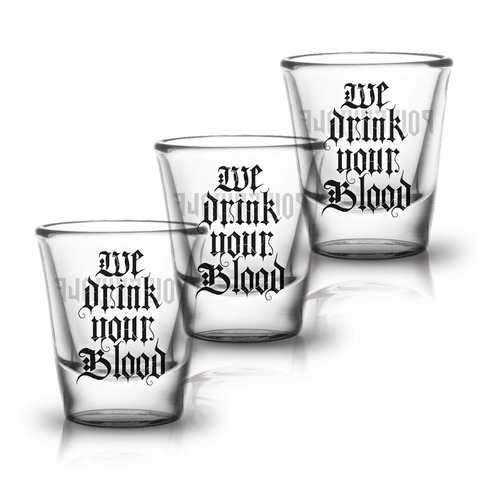 √We Drink Your Blood von Powerwolf - 3er Set Shot Glas jetzt im Bravado Shop