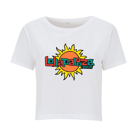 Logo Sun von Lollapalooza Festival - Crop Top jetzt im Bravado Shop