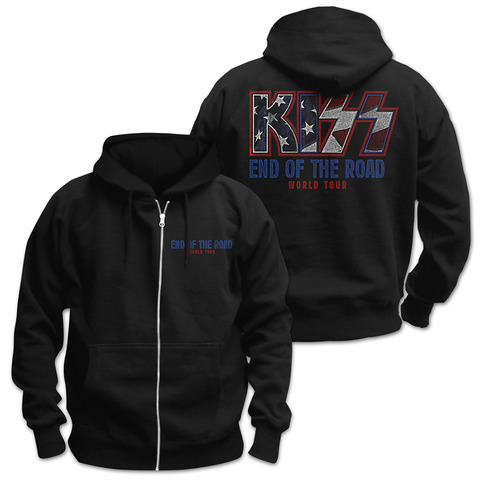 √End of the Road World Tour von Kiss - Hooded jacket jetzt im Bravado Shop