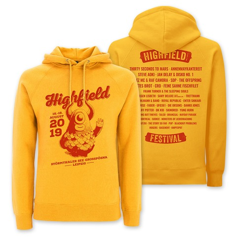 √Highfiene Says Hi von Highfield Festival - Girlie hooded sweater jetzt im Bravado Shop
