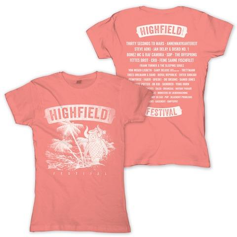 √Palm Beach von Highfield Festival - Girlie Shirt jetzt im Bravado Shop
