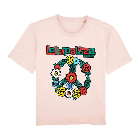 √Flower Wreath von Lollapalooza Festival - Girlie Shirt jetzt im Bravado Shop