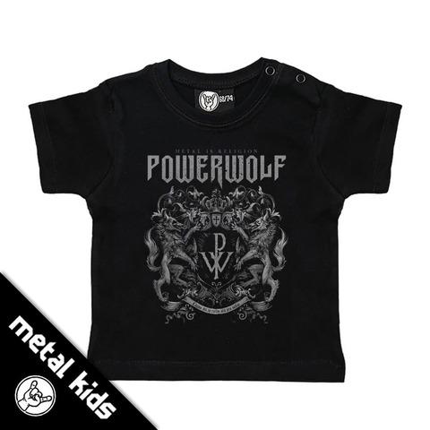 √Metal Kids Crest von Powerwolf - Children's shirt jetzt im Bravado Shop