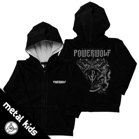√Metal Kids Crest von Powerwolf - Children's hooded jacket jetzt im Bravado Shop