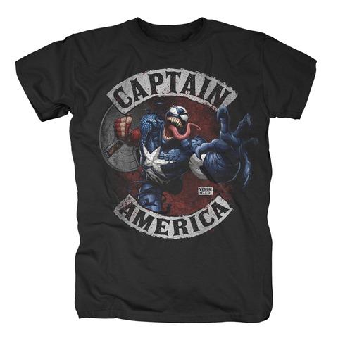 Venomized Captain America von Marvel Comics - T-Shirt jetzt im Bravado Shop
