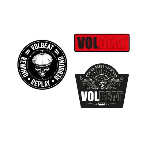 √Rewind Replay Rebound von Volbeat - 3er Aufnäher Set jetzt im Bravado Shop