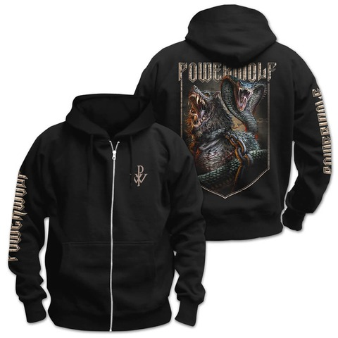 √Kiss Of The Cobra King von Powerwolf - Hooded jacket jetzt im Bravado Shop