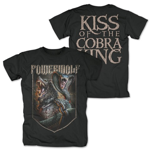 √Kiss Of The Cobra King von Powerwolf - T-Shirt jetzt im Bravado Shop