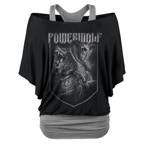 √Kiss Of The Cobra King von Powerwolf - Girlie Double Layer Shirt jetzt im Bravado Shop