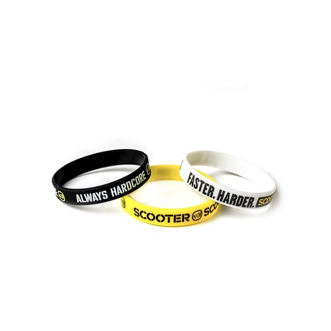 √Scooter Bracelets von Scooter - 3er Set Silikonarmbänder jetzt im Bravado Shop