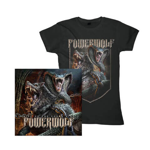 √Kiss Of The Cobra King Bundle von Powerwolf - Girlie Shirt + Single CD jetzt im Bravado Shop