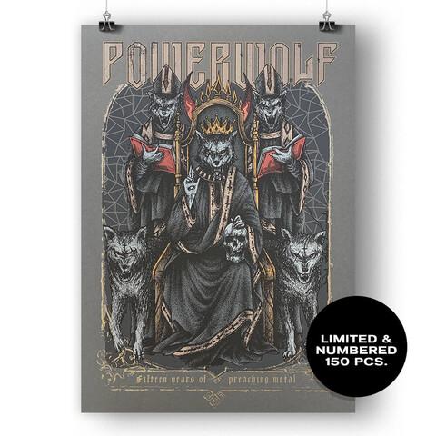 √Fifteen Years Of Preaching Metal von Powerwolf - Siebdruckposter jetzt im Bravado Shop