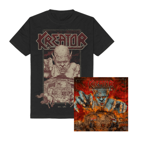 London Apocalypticon - Live At The Roundhouse (Ltd. Bundle CD + T-Shirt) von Kreator - CD Bundle jetzt im Bravado Shop
