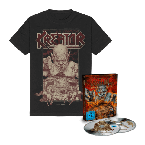 London Apocalypticon - Live At The Roundhouse (Ltd. Bundle Deluxe CD & BluRay + T-Shirt) von Kreator - CD Bundle jetzt im Bravado Shop