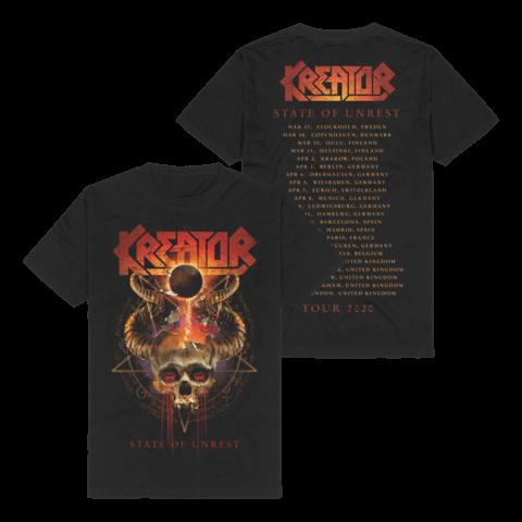 √State Of Unrest Tour 2020 von Kreator - T-Shirt jetzt im Bravado Shop