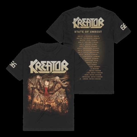 √666 - State Of Unrest Tour 2020 von Kreator - T-Shirt jetzt im Bravado Shop