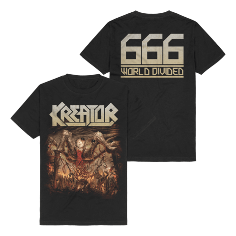 √666 - World Divided Single Art von Kreator - T-Shirt jetzt im Bravado Shop