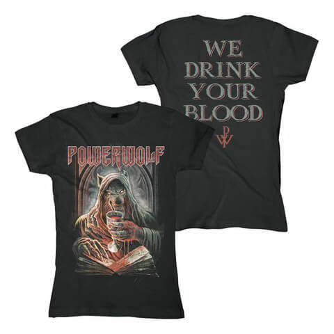 √Your Blood von Powerwolf - Girlie Shirt jetzt im Bravado Shop