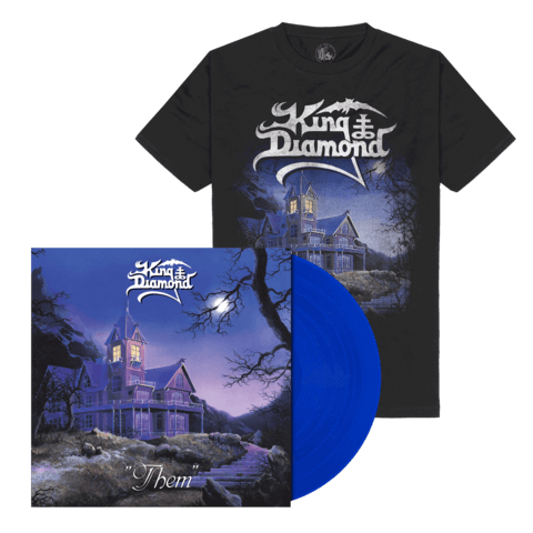 √Them (Ltd. Bundle Clear Royal Blue Vinyl + Shirt) von King Diamond -  jetzt im Bravado Shop