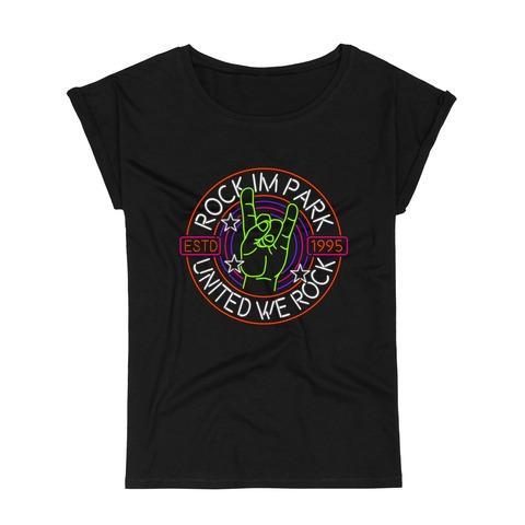 √United Rock Hand von Rock im Park Festival - Girlie Shirt with Roll Up jetzt im Bravado Shop