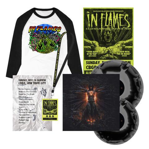 √Clayman 20th Anniversary Bundle - Ltd. 2LP, Poster, Setlist, AAA Pass, Longsleeve von In Flames -  jetzt im Bravado Shop