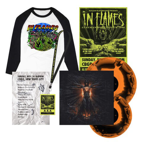 √Clayman 20th Anniversary Bundle - 2Vinyl (black/orange), Poster, Setlist, AAA Pass, Longsleeve von In Flames - 2Vinyl Bundle jetzt im Bravado Shop