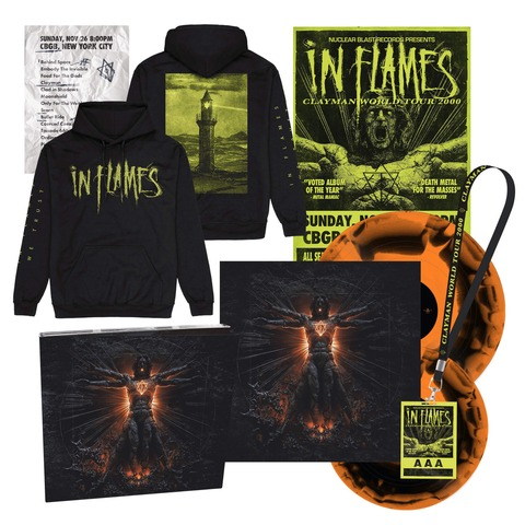 √Clayman 20th Anniversary Bundle - 2Vinyl (black/orange), CD, Poster, Setlist, AAA Pass, Hoodie von In Flames - 2Vinyl + Digi CD Bundle jetzt im Bravado Shop