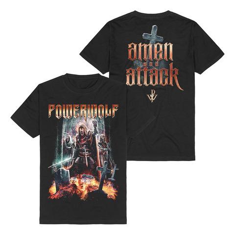 Amen & Attack von Powerwolf - T-Shirt jetzt im Bravado Shop
