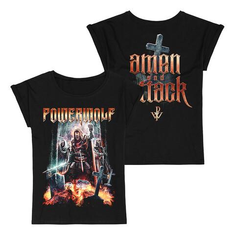 √Amen & Attack von Powerwolf - Girlie Shirt jetzt im Bravado Shop