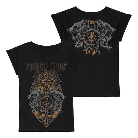 √Crest Wolves von Powerwolf - Girlie Shirt Loose Fit jetzt im Bravado Shop