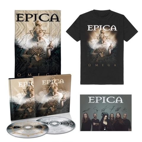 √Omega Bundle - 2CD Digibook, T-Shirt, Signed Card, Flag von Epica - 2CD Digibook Bundle jetzt im Bravado Shop