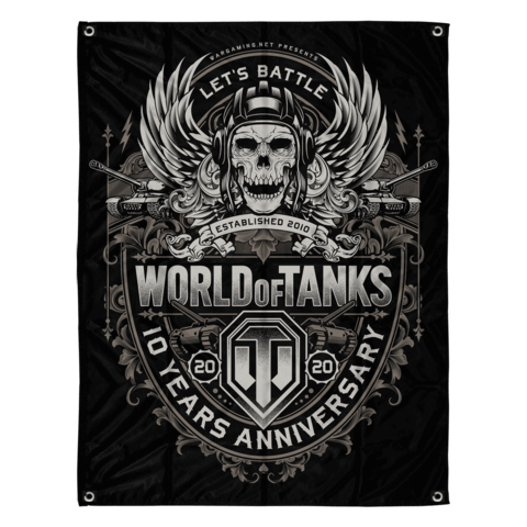 √10 Years Anniversary von World Of Tanks - Flag jetzt im Bravado Shop
