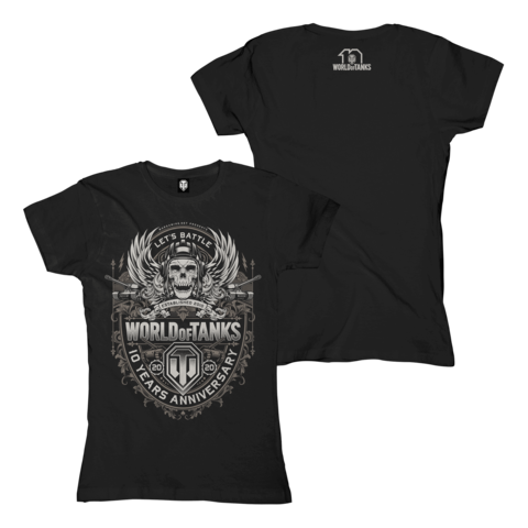 √10 Years Anniversary von World Of Tanks - Girlie Shirt jetzt im Bravado Shop