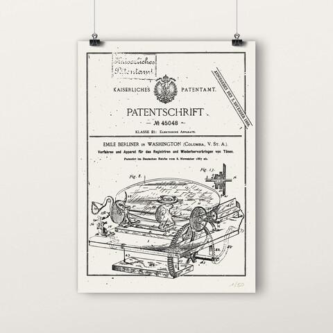 √Patentschrift von Deutsche Grammophon - poster jetzt im Bravado Shop