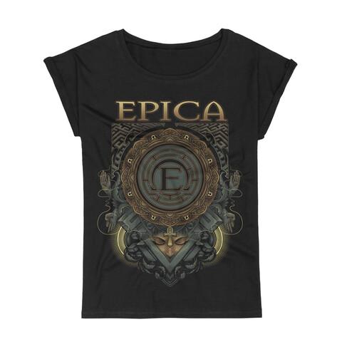 Centered von Epica - Girlie Shirt mit Rollup Ärmeln jetzt im Bravado Shop
