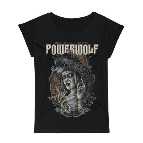 √Demon Girl von Powerwolf - Girlie Shirt with Roll Up jetzt im Bravado Shop