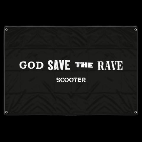√God Save The Rave von Scooter - Flag jetzt im Bravado Shop