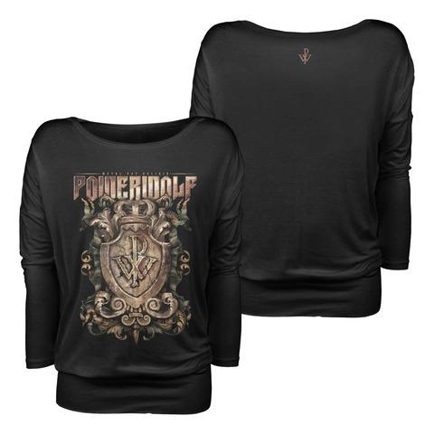 Metal Est Religio Crest von Powerwolf - Girlie Longsleeve Loose Fit jetzt im Bravado Shop