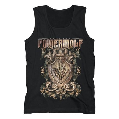 Metal Est Religio Crest von Powerwolf - Tank Shirt Men jetzt im Bravado Shop