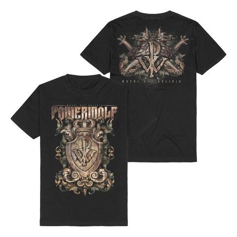 Metal Est Religio Crest von Powerwolf - T-Shirt jetzt im Bravado Shop