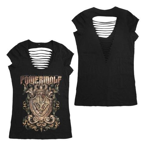 Metal Est Religio Crest von Powerwolf - Girlie Shirt Cut Back jetzt im Bravado Shop