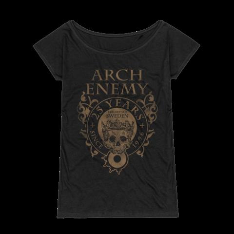 25 Years Crest von Arch Enemy - Girlie Shirt Loose Fit jetzt im Bravado Store