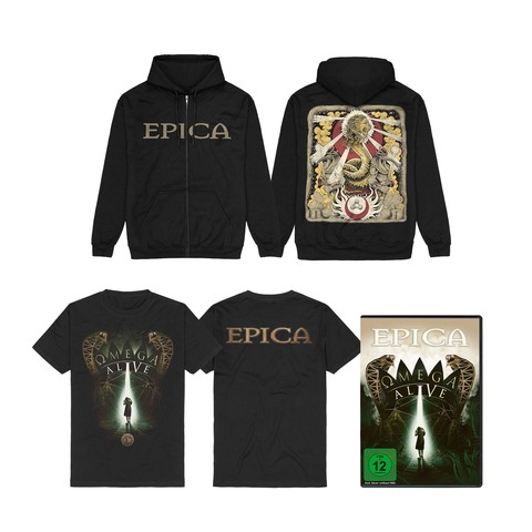 Omega Alive Bundle (DVD/BluRay + Shirt + Zipper) von Epica - DVD / BluRay Bundle jetzt im Bravado Store