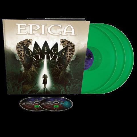 Omega Alive (Ltd Earbook 3LP Green + DVD / BluRay) von Epica - Earbook jetzt im Bravado Store