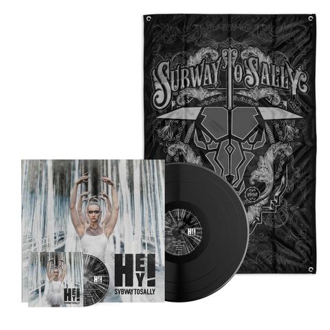 √HEY! (Bundle LP/CD - Limited Vinyl Edition + Flagge) von Subway To Sally - LP jetzt im Bravado Shop