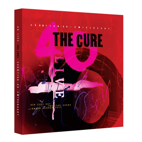 √40 Live: Cureation-25 + Anniversary (Ltd. Deluxe Box 2DVD + 4CD) von The Cure - Box set jetzt im Bravado Shop