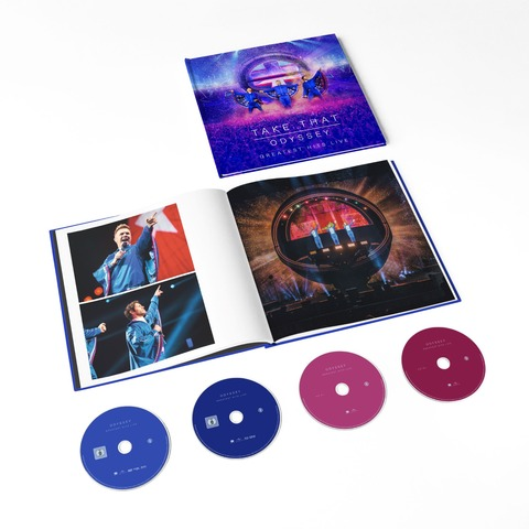 √Odyssey - Greatest Hits Live (Ltd. Set BluRay, DVD, 2CD) von Take That - Box set jetzt im Bravado Shop