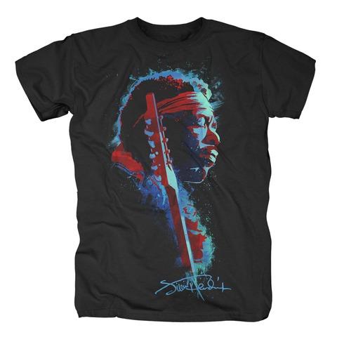 Watercolor Profile von Jimi Hendrix - T-Shirt jetzt im Bravado Shop